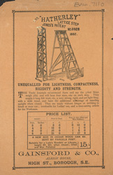 Advert for the Hatherly Lattice Step Ladder 7110